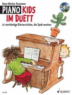 Piano Kids im Duett, Klavier 4-händig, m. Audio-CD - Heumann, Hans-Günter