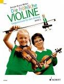 B-Tonarten, C-Dur, 2. und 3. Lage, 'Doppelgriffe und andere Kniffe' / Die fröhliche Violine Bd.3