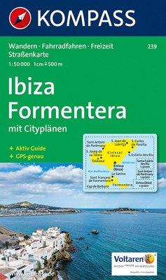 KOMPASS Wanderkarte Ibiza, Formentera