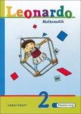 Leonardo Mathematik 2. Arbeitsheft. Nordrhein-Westfalen, Rheinland-Pfalz. Euro-Ausgabe
