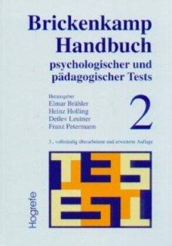 Brickenkamp Handbuch psychologischer und pädagogischer Tests, 2 Bde. - Brähler, Elmar; Brickenkamp, Rolf; Holling, Heinz
