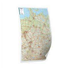 Bacher Straßenkarte Deutschland, Mini-Posterkar...