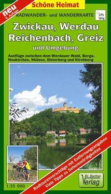 Doktor Barthel Karte Wälder um Zwickau, Werdau ...