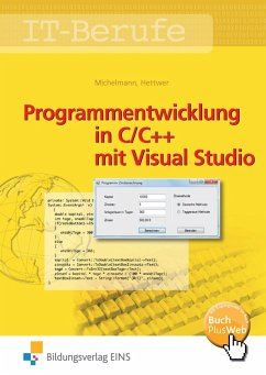 IT-Berufe. Programmentwicklung in C/C++ mit Visual Studio. Schülerband - Michelmann, Norbert; Hettwer, Rolf