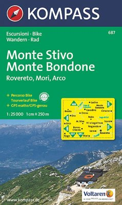 Kompass Karte Monte Stivo, Monte Bondone, Rovereto, Mori, Arco