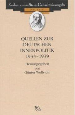 Quellen zur deutschen Innenpolitik 1933-1939