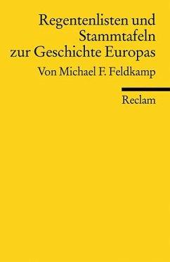 Regentenlisten und Stammtafeln zur Geschichte Europas - Feldkamp, Michael F.