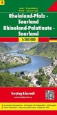 Freytag & Berndt Autokarte Rheinland-Pfalz, Saarland / Rhineland-Palatinate, Saarland; Rhénanie-Palatinat, Sarre / Renan