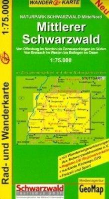 GeoMap Karte Mittlerer Schwarzwald