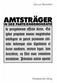 Amtsträger in der Parteiendemokratie