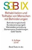 Sozialgesetzbuch (SGB) IX. Rehabilitation und Teilhabe behinderter Menschen