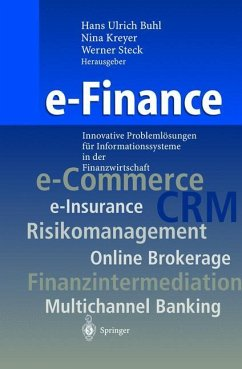 e-Finance - Buhl, Hans Ulrich / Kreyer, Nina / Steck, Werner (Hgg.)