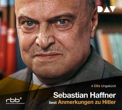 Anmerkungen zu Hitler, 4 Audio-CDs - Haffner, Sebastian