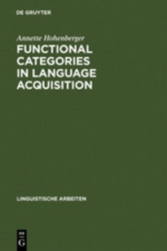 Functional Categories in Language Acquisition