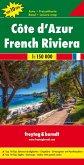 Freytag & Berndt Autokarte Cote d'Azur; Costa Azzurra / Costa Azul / French Riviera