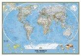 National Geographic Map The World, Political, Classic, laminiert, Planokarte