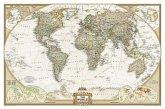 National Geographic Map World Political, Executive Line, laminiert, Planokarte