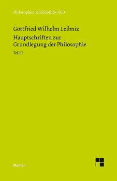 Hauptschriften zur Grundlegung der Philosophie 2
