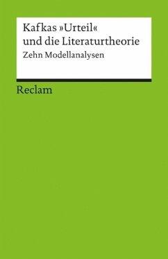 Kafkas 'Urteil' und die Literaturtheorie - Jahraus, Oliver / Neuhaus, Stefan (Hgg.)