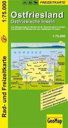 GeoMap Karte Ostfriesland, Ostfriesische Inseln