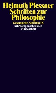 Schriften zur Philosophie - Plessner, Helmuth