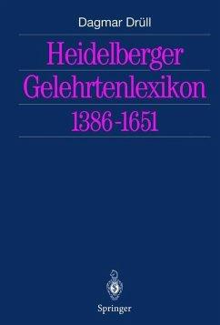 Heidelberger Gelehrtenlexikon 1386-1651 - Drüll, Dagmar