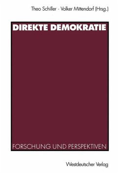 Direkte Demokratie - Schiller, Theo / Mittendorf, Volker (Hgg.)