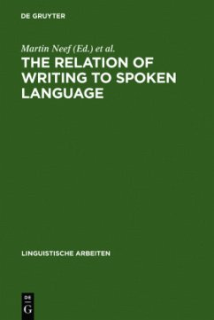 The Relation of Writing to Spoken Language