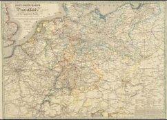 Post-Reise-Karte von Deutschland und den angrän...