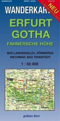 Wanderkarte Erfurt-Gotha, Fahner Höhe