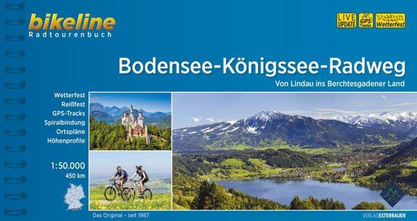 Bikeline Bodensee-Königssee-Radweg 1 : 50 000