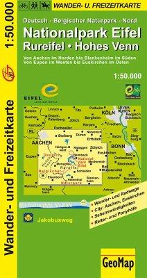GeoMap Karte Nationalpark Eifel, Rureifel, Hohe...