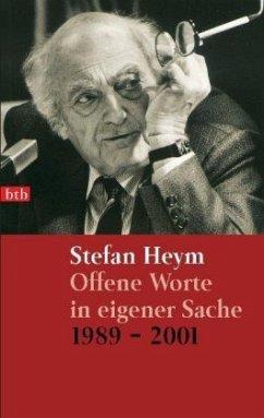 Offene Worte in eigener Sache 1989-2001 - Heym, Stefan