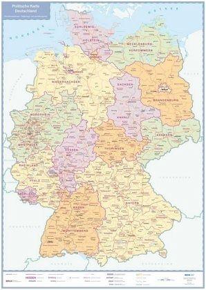 Politische Karte Deutschland Plano Landkarten Portofrei Bei