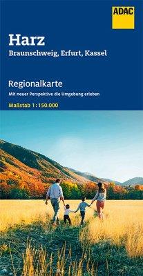 ADAC Regionalkarte Blatt 8 Harz, Braunschweig, Erfurt, Kassel 1:150 000