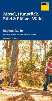 ADAC Regionalkarte Mosel, Hunsrück, Eifel und Pfälzer Wald 1:150 000