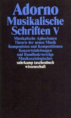 Musikalische Schriften 5