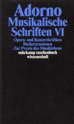Musikalische Schriften 6