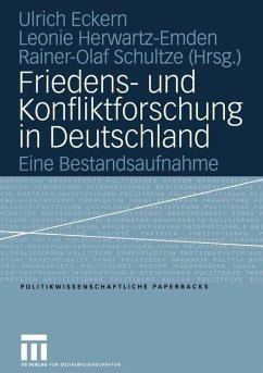 Friedens- und Konfliktforschung in Deutschland - Zinterer, Tanja (Editorial board member)