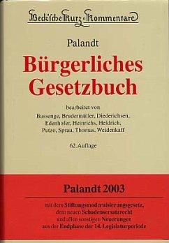Bürgerliches Gesetzbuch (BGB), 64. Aufl. - Palandt, Otto