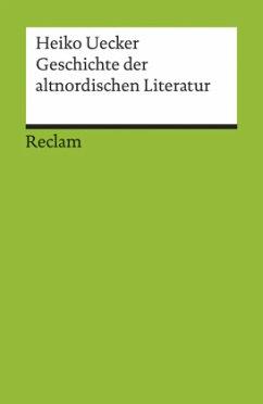 Geschichte der altnordischen Literatur
