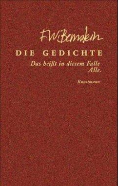 Die Gedichte - Bernstein, F. W.
