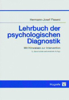 Lehrbuch der psychologischen Diagnostik - Fisseni, Hermann-Josef