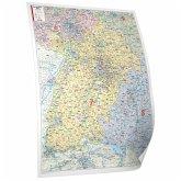 Bacher Postleitzahlen-Karte Baden-Württemberg, Posterkarte beschichtet