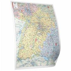 Bacher Postleitzahlen-Karte Baden-Württemberg, ...