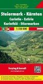 Freytag & Berndt Autokarte Steiermark, Kärnten; Carintia, Estiria; Karinthie; Stiermarken; Styria, Carinthia; Styrie, Ca