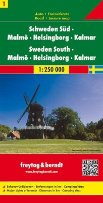 Freytag & Berndt Autokarte Schweden Süd; Sweden South. Sverige Söder; Suède du Sud; Svezia della Sud