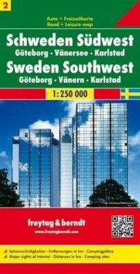 Freytag & Berndt Autokarte Schweden Südwest; Västra Svealand; Zweden Zuidwest