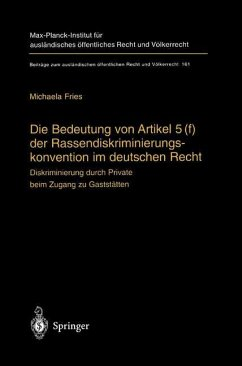Die Bedeutung von Artikel 5(f) der Rassendiskriminierungskonvention im deutschen Recht - Fries, Michaela