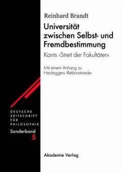 Universität zwischen Selbst- und Fremdbestimmung - Brandt, Reinhard